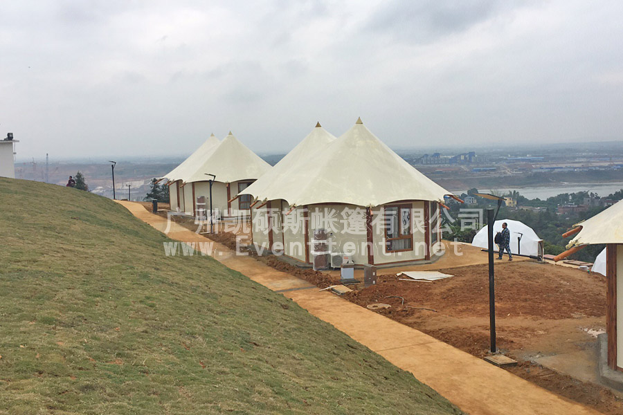 High-end Wild Luxury Hotel Tent In Xishanquan Camp, Guiping, Guangxi