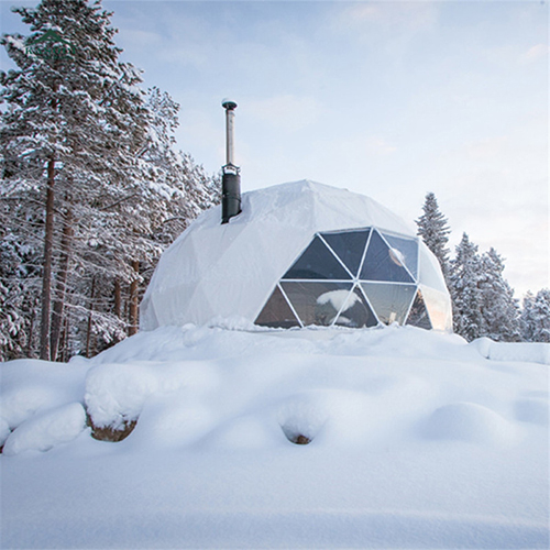Snow and wind resistant FRP outdoor dome camping igloo dome house