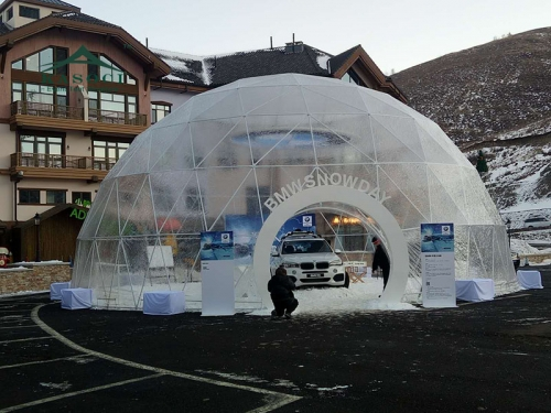 Customized Wholesale Price Geodesic Dome House Tent For BMW show