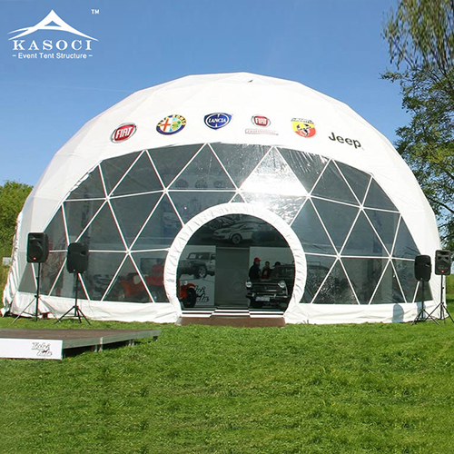 white suv geodome tent super big dome tent from Guangzhou Event