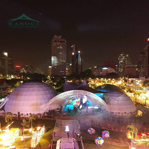 Customized 5m to 60m PVC Geodesic trade Show Dome Event Tent With Hot-Dip Galvanized Steel