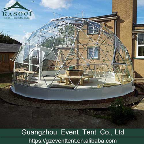 Hot sale transparent glass Igloo dome tent for garden