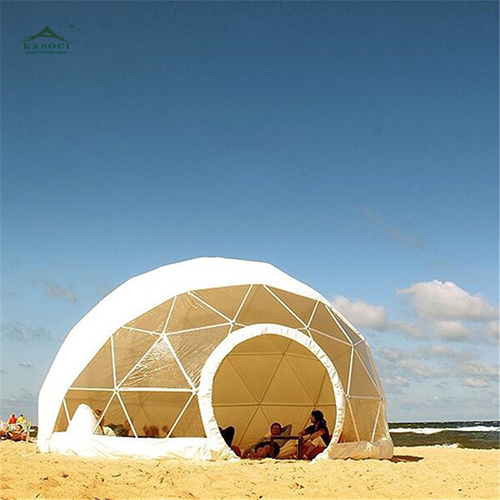 Portable Custom Outdoor Summer Round PVC Geodesic Dome House Clear Garden Igloo Camping Tent