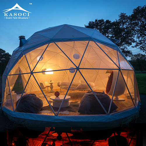 Portable Custom Outdoor Summer Round Pvc Geodesic Dome