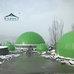 2019 Latest durable Semi- permanent building geodesic dome tent for winery