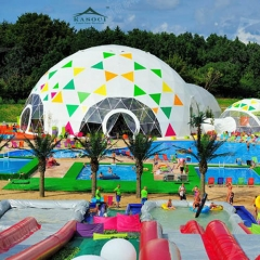 Waterproof and Flame Retardant colorful Geodesic Dome Tent for Kids Parties