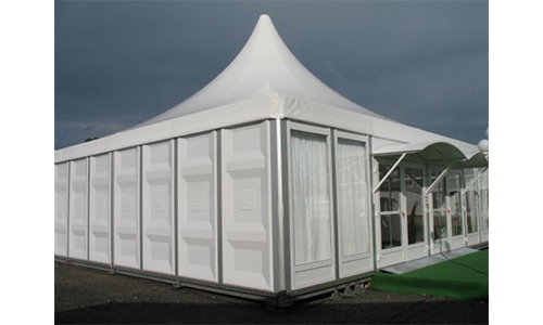 Outdoor garden party gazebo tent with white roof rain cover for sale