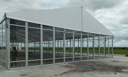15x40m Aluminium Alloy Frame Tent with Glass Wall