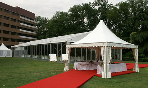 Movable pagoda tent design for events