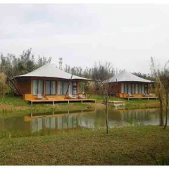 China Supplier Luxurious Glamping Hotel Tent Prefab Villa for sale